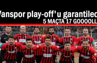 Vanspor play-off'u garantiledi