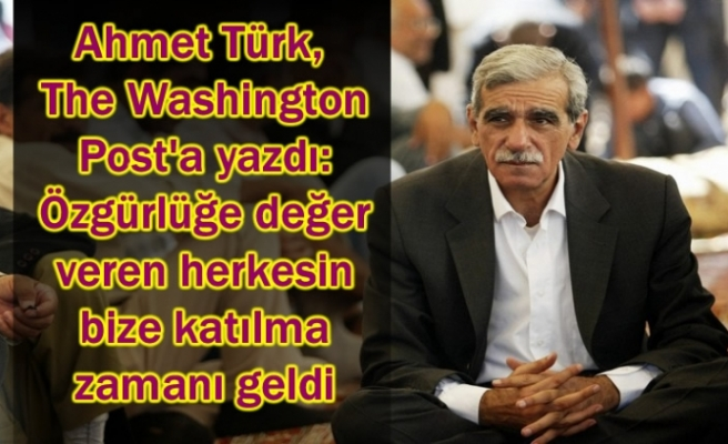 Ahmet Türk, The Washington Post'a yazdı